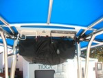 Over head electronics and T-bag
